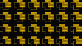 Abstrakt svart bakgrund med den guld- modellen, rasterbilden för designen av textiler, printingbranschen och variation av designe Fotografering för Bildbyråer