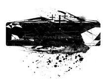 abstrakt svart borstemålarfärg Arkivfoto