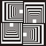 abstrakt svart designwhite Arkivfoto