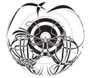 abstrakt svart diagram vektorwhite Royaltyfri Fotografi