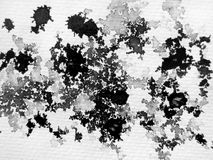 abstrakt svart färgpulverwhite Arkivbild