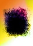 abstrakt svart färgrikt agghål Arkivfoto