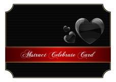 Abstrakt svart firar kortet Royaltyfri Foto