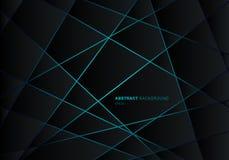 Abstrakt svart geometrisk polygon p royaltyfri illustrationer