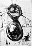abstrakt svart illustrationwhite Royaltyfria Foton