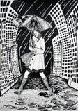 abstrakt svart illustrationwhite Arkivbild