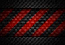 Abstrakt svart kol texturerad materiell design med varningsbandet Royaltyfri Foto