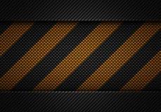 Abstrakt svart kol texturerad materiell design med varningsbandet Arkivbild
