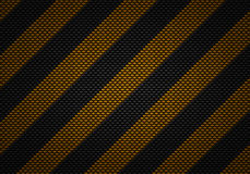Abstrakt svart kol texturerad materiell design med varningsbandet Royaltyfria Bilder