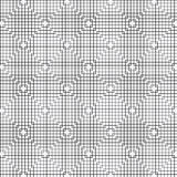 Abstrakt svart linje fyrkanter modell, vektor Fotografering för Bildbyråer