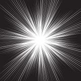 Abstrakt svart linje ljus hastighet för zoom på vit för komisk bakgrundsvektor för tecknad film Arkivfoton