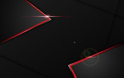 Abstrakt svart med röd bakgrund för begrepp för tech för design för rammallorientering stock illustrationer