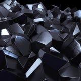 Abstrakt svart mineral Arkivbilder