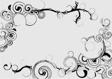 abstrakt svart modellwhite Arkivfoto