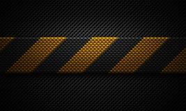 Abstrakt svart perforerad design för plattamaterial med varningsklappet Arkivfoton