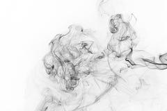 abstrakt svart rök arkivfoto