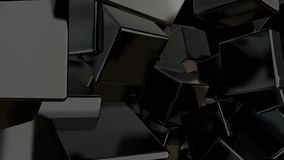 Abstrakt svart skära i tärningar bakgrund digital bakgrund Royaltyfri Fotografi