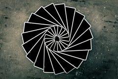 Abstrakt svart som spelar kort Royaltyfri Bild