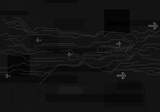 Abstrakt svart teknologibakgrund Arkivfoton