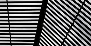 Abstrakt svart- & vitbanerbakgrund Royaltyfri Fotografi