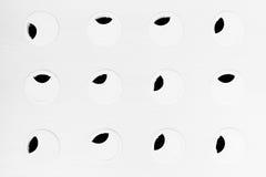 Abstrakt svartvit bakgrund för Minimalist med cirklar och svartsidor Royaltyfria Foton