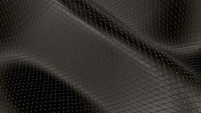 Abstrakt svartvit låg poly vinkande yttersida 3D som utrymmebakgrund Abstrakt geometrisk vibrerande miljö för grå färger arkivfilmer