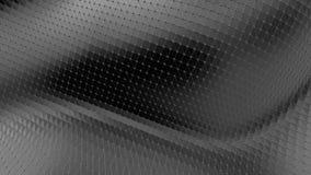 Abstrakt svartvit låg poly vinkande yttersida som futuristiskt landskap Abstrakt geometrisk vibrerande miljö för grå färger lager videofilmer