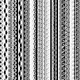 Abstrakt svartvit sömlös modell Arkivfoto