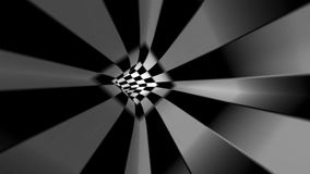 Abstrakt svartvit tunnel stock video