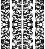 Abstrakt svartvitt färgpulver som är sömlöst för tryck stock illustrationer