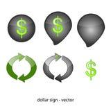 Abstrakt symbol - dollar Royaltyfri Bild