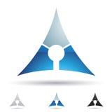 Abstrakt symbol för bokstav A Royaltyfri Fotografi