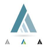 Abstrakt symbol för bokstav A Arkivbild