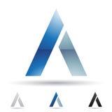 Abstrakt symbol för bokstav A Arkivfoto