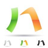 Abstrakt symbol för bokstav N Arkivbilder
