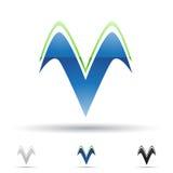 Abstrakt symbol för bokstav V Royaltyfri Foto