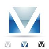 Abstrakt symbol för bokstav V Arkivbild