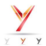Abstrakt symbol för bokstav Y Arkivbilder