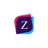 Abstrakt symbol för företag för z-bokstavslogo Idérik vektoremblemkli Arkivbild
