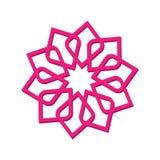 Abstrakt symbol för logosymbol Vektorillustration som isoleras på bakgrunden Geometriskt symbol av den komplexa strukturen Skönhe stock illustrationer