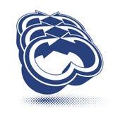 Abstrakt symbol för pilvektor, grafisk design Arkivbild