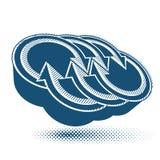 Abstrakt symbol för pilvektor, grafisk design Royaltyfri Foto