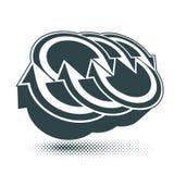 Abstrakt symbol för pilvektor, mallsingel Co för grafisk design Arkivbild