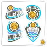Abstrakt symbol för vektor för vatten Polo Ball Royaltyfri Bild