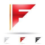 Abstrakt symbol för bokstav F Arkivfoton