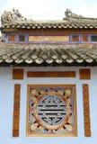 Abstrakt symbol i en Konfucius tempel i Vietnam Royaltyfria Bilder