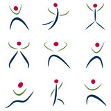 abstrakt symbolsfolk Royaltyfri Foto