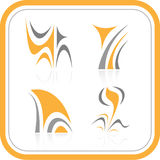 abstrakt symbolsinternetvektor stock illustrationer