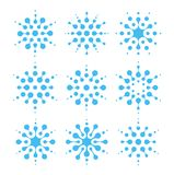 Abstrakt symbolsuppsättning för vatten Betingande och rengörande tecken för luft Gradbeteckning för luftfuktighetsblått Vätskelog royaltyfri illustrationer