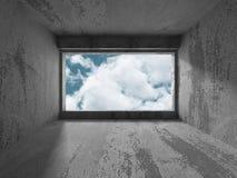Abstrakt töm konkret inre bakgrund Arkivfoton